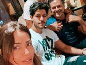 راغب علامة مع زوجته وأبنائه فى دبى: اشتقت لأولادى.. صور