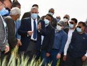 وزير الزراعة ومحافظ الفيوم يتفقدان مشروع تبطين المساقى وحقل زراعى بقرية بيهمو