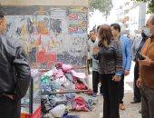 محافظ دمياط تقود حملة لرفع الإشغالات بمنطقة عمر أفندى ومحيط قصر الثقافة