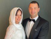 حلا شيحة بالحجاب خلال عقد القران على الداعية معز مسعود