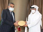 رئيس الاتحاد القطري يستقبل رئيس اللجنة الثلاثية بالجبلاية