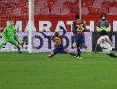 إشبيلية يحسم مواجهة برشلونة بهدفين ويقترب من نهائي كأس إسبانيا.. فيديو