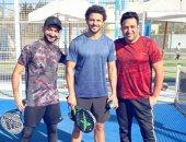 مباراة تنس تجمع تامر حسين ونادر حمدى وحسام غالى