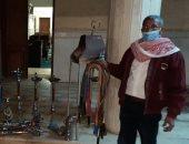تغريم 15 مواطنا لعدم ارتداء كمامة وضبط مقهى يقدم شيشة بحملة بالبياضية بالأقصر