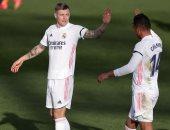 كروس يضيف ثانى أهداف الريال ضد برشلونة في الدقيقة 28.. فيديو