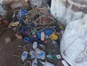 ضبط مصنع بدون ترخيص لإنتاج المواد البلاستيكية من النفايات الخطرة بطوخ