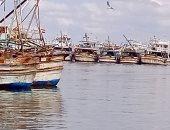 توقف حركة الصيد بميناء بورسعيد بسبب ارتفاع الأمواج