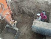 رئيس مدينة القرنة بالأقصر يتفقد العمل بمشروع الصرف بالطارف