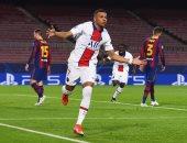 هدف مبابي الثالث فى برشلونة الأفضل بمواجهات ذهاب دور الـ16 بالأبطال