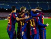 """برشلونة ضد إليتشي.. جوردي ألبا يسجل الثالث 3-0 """"فيديو"""""""
