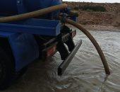 طوارئ بمحافظة مطروح لسحب تراكمات مياه الأمطار من الشوارع