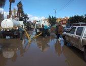 مياه المنوفية: شفط تجمعات مياه الأمطار بشوارع تلا وبركة السبع