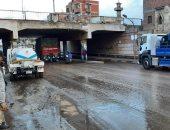 """""""مياه القليوبية"""": رفع تجمعات مياه الأمطار من شوارع المحافظة.. صور"""