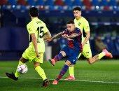 تعادل إيجابي بين ليفانتي ضد أتلتيكو مدريد بالشوط الأول في الليجا.. فيديو