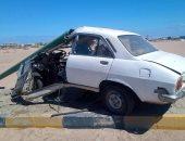 إصابة شخصين فى تصادم سيارة ملاكى بعامود إنارة بالغردقة