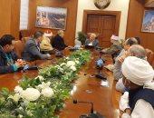 محافظ بورسعيد يستقبل أعضاء لجنة تحكيم مسابقة القرآن الكريم الدولية