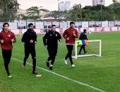 محمد الشناوي يواصل التدريبات تحت الأمطار استعداداً لـ سيمبا