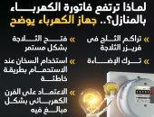 لماذا ترتفع فاتورة الكهرباء بالمنازل؟.. جهاز الكهرباء يوضح (إنفوجراف)