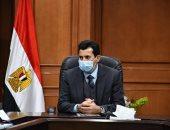 وزير الرياضة يغادر المستشفى اليوم بعد عملية جراحية فى الكتف