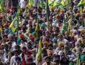 بالأصفر والأحمر.. المزارعون فى الهند يحتجون ضد قانون الزراعة الجديد
