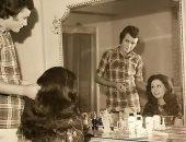 صورة نادرة بالأبيض والأسود لـ فاروق الفيشاوى وسمية الألفى خلال فترة الزواج