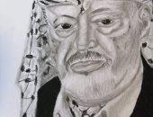 """""""مروان"""" من كفر الدوار يعبر عن موهبته برسم الشخصيات"""