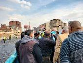 وزير النقل يتابع أعمال توسعة الطريق الدائرى.. صور