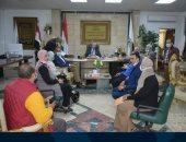 محافظ جنوب سيناء يلتقى أعضاء لجنة جهاز التفتيش الفنى على أعمال البناء