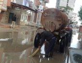 رفع مياه الأمطار من الشوارع وتوقف حركة الملاحة بكفر الشيخ