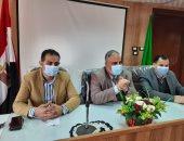 وكيل وزارة الشباب والرياضة بالقليوبية يجتمع بمسؤولى التخطيط والتفتيش بالإدارات الفرعية