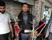حي شمال الجيزة يضبط 300 شيشة بمقاهى مخالفة.. صور