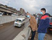 محافظ القليوبية يتابع تصريف مياه الأمطار على طريق مصر الإسكندرية الزراعى