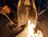 حرق صور لملك إسبانيا فى الاحتجاجات ضد اعتقال مغنى راب أهان الملكية ..فيديو وصور