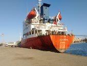 شحن 3200 طن صودا كاوية بميناء غرب بورسعيد