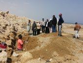 رئيس مدينة سفاجا : جارى إصلاح كسر ماسورة مياه الكيلو 17