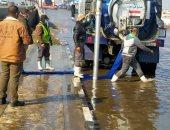 شفط مياه الأمطار من شوارع القاهرة وانتشار بأماكن التجمعات.. صور