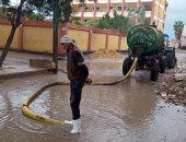رؤساء مراكز ومدن كفر الشيخ يواصلون رفع مياه الأمطار من القرى
