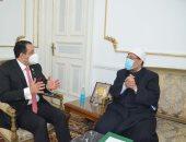 """وزير الأوقاف يبحث مع نائب رئيس البرلمان العربى الإعداد لمؤتمر """"حوار الأديان والثقافات"""""""