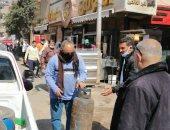 إزالة 160 حالة إشغال وتحرير 15 محضر إشغال طريق فى الباجور بالمنوفية