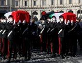 صور.. تشييع جنازة السفير الإيطالى الراحل بالكونغو فى حضور كبار المسئولين