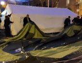 أنصار المعارضة الأرمينية ينصبون الخيام وسط شوارع العاصمة.. فيديو وصور