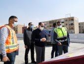 الرئيس يشدد على سرعة إنجاز مشروعات الطرق لإنهاء التكدس المرورى