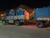 وصول كابلات كهرباء إلى مرسى علم لتوصيل التيار للمناطق المحرومة.. صور