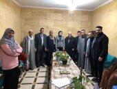 رشا أبو شقرة نائبة تنسيقية الأحزاب تلتقى عائلات صفط اللبن للاستماع لمطالبهم