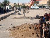 محافظ أسوان: بدء مشروع تجديد شبكات الصرف بطريق الكورنيش والشوارع الداخلية