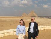 نائب رئيس الاتحاد الدولى للرماية وزوجته يزورون منطقة الأهرامات