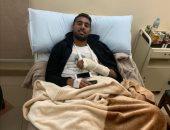 أول تعليق من أحمد ياسر ريان بعد خضوعه لجراحة في اليد