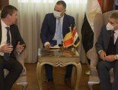 الفريق أسامة ربيع يلتقي السفير البلجيكي لبحث سبل التعاون المشترك.. صور