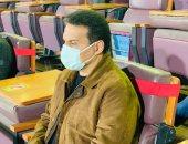 حسام البدري يتابع مباراة الأهلى والطلائع من ستاد السلام