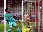 محمد صلاح ملك المراوغات الناجحة والتمريرات في مباراة شيفيلد ضد ليفربول